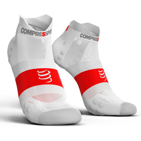 Compressport Pro Racing V3.0 UItralight Run Low Löparstrumpor vit